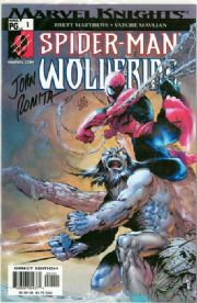 Spider-man Wolverine #1 Dynamic Forces Signed John Romita Sr. DF COA Ltd 399 Marvel comic book